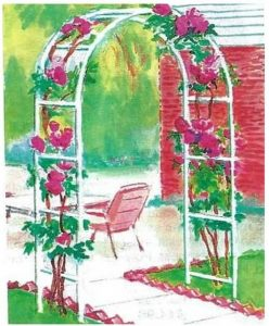 Trenton Gifts Weather Resistant Free-Standing Arched Trellis