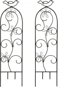 Hosley Set of 2 Iron Wave Pot Trellis